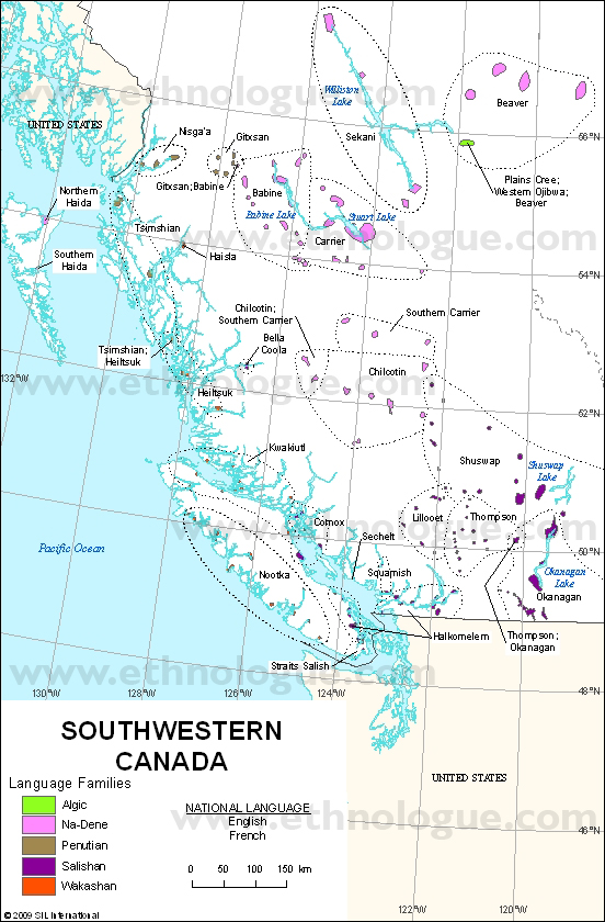 Languages of Southwestern Canada