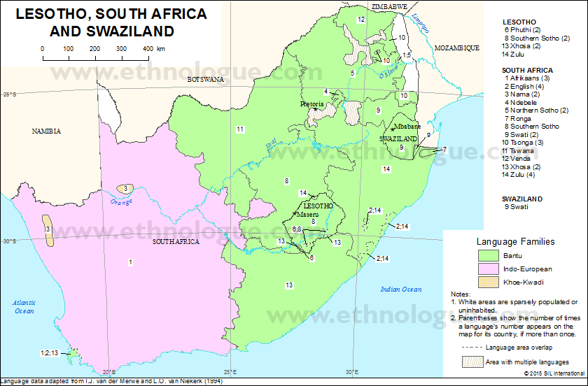 Lesotho South Africa And Swaziland Ethnologue