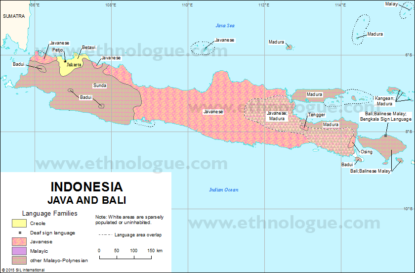 Indonesia Java And Bali Ethnologue: Map World Java At Infoasik.co