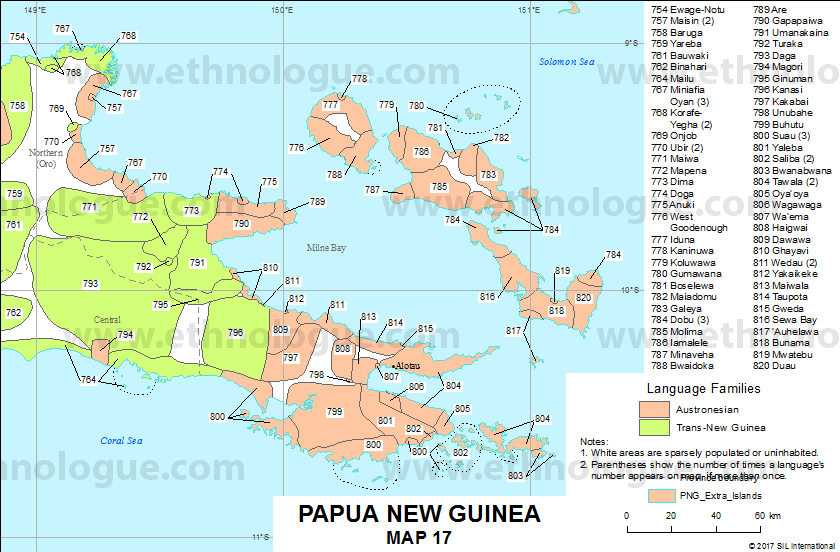 Papua New Guinea, Map 17   Ethnologue