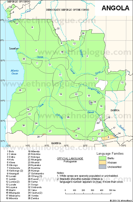 Language maps of Angola on map of armenia, map of ghana, map of lesotho, map of southern europe, map of argentina, map of africa, map of albania, map of namibia, map of philippines, map of zambia, map of mozambique, map of burkina faso, map of bolivia, map of chile, map of african countries, map of botswana, map of madagascar, map of djibouti, map of latvia, map of spain,