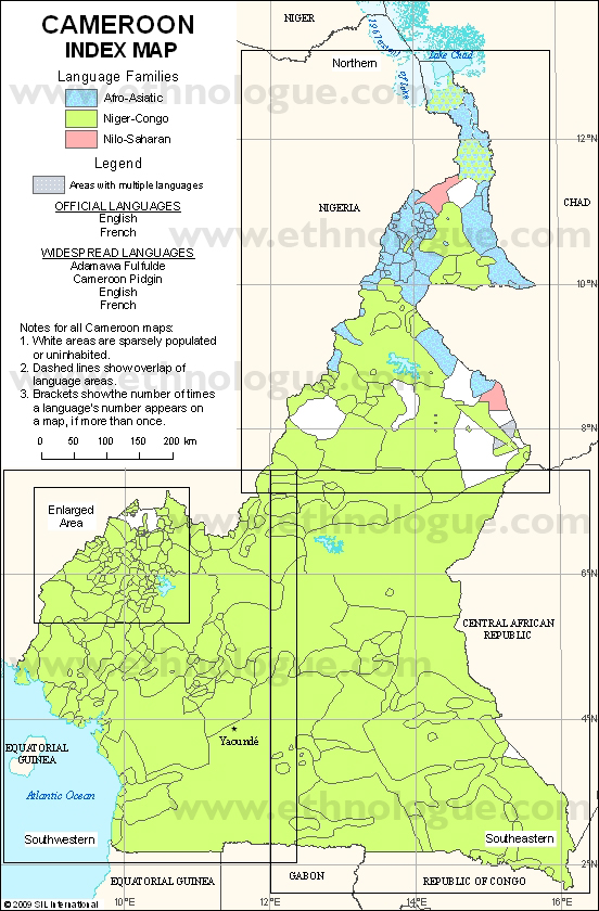 Language maps of cameroon languages of cameroon index map publicscrutiny Images