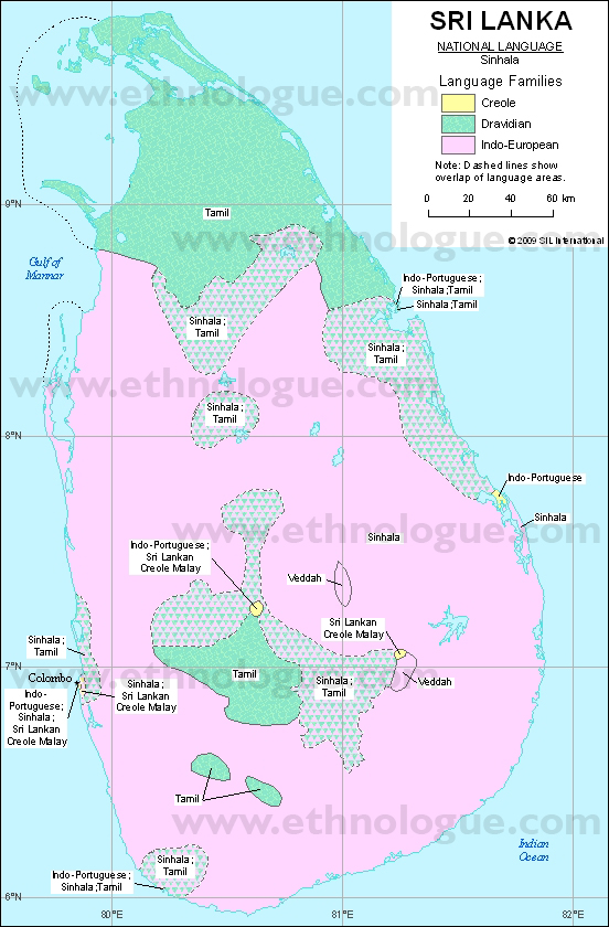 Language maps of Sri Lanka