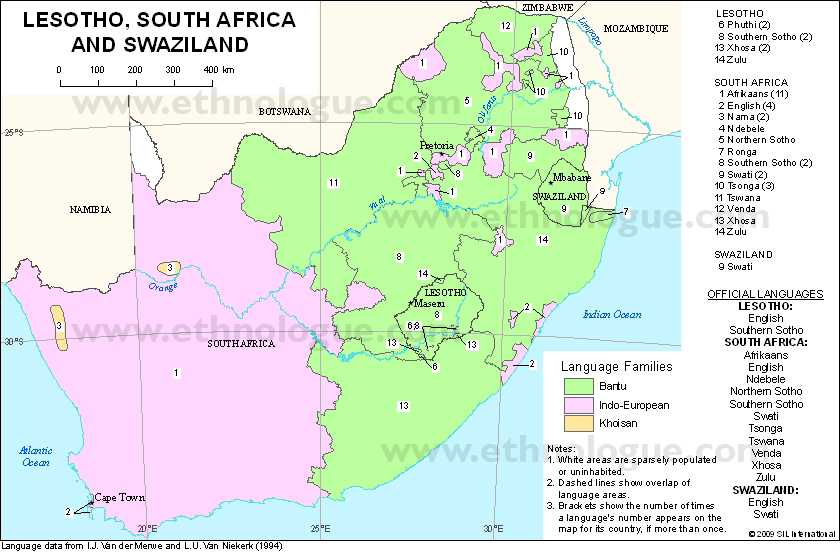 Language Maps Of South Africa
