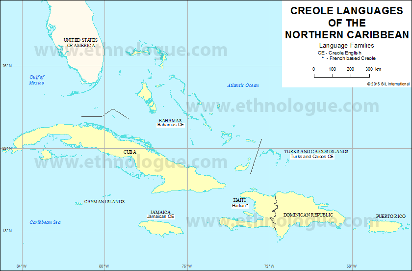 Creole Languages of the Northern Caribbean Ethnologue