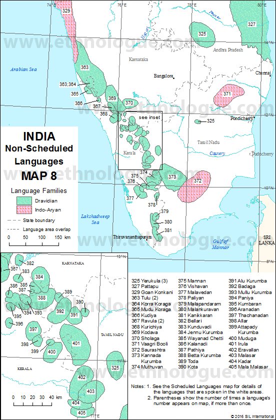India Map 8 Ethnologue