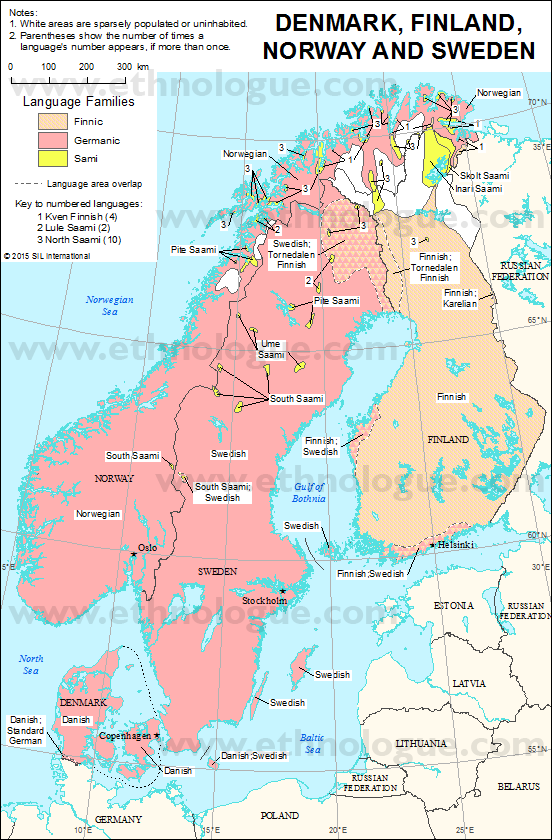 Denmark Finland Norway And Sweden Ethnologue - Norway map download pdf