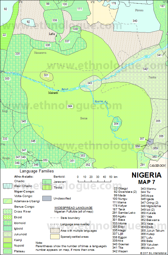 Nigeria Map Ethnologue - Nigeria map