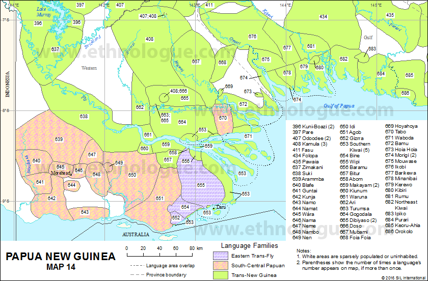 Papua New Guinea Map Ethnologue - Papua new guinea map