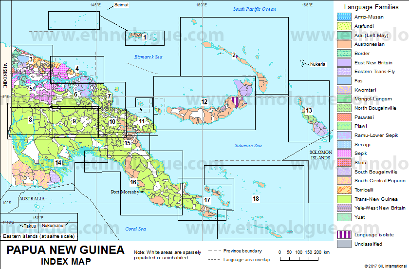 Papua New Guinea Index Map Ethnologue - Papua new guinea map