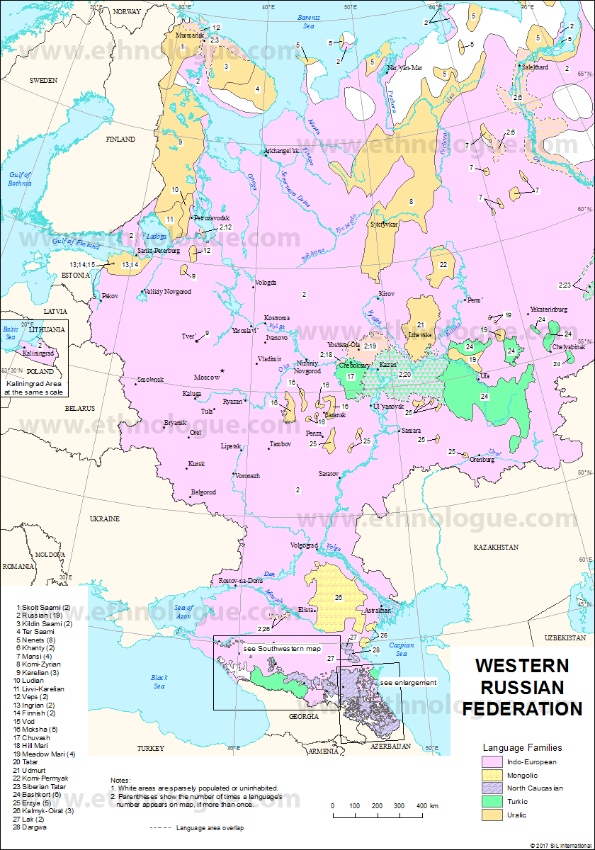 Western Russia Ethnologue