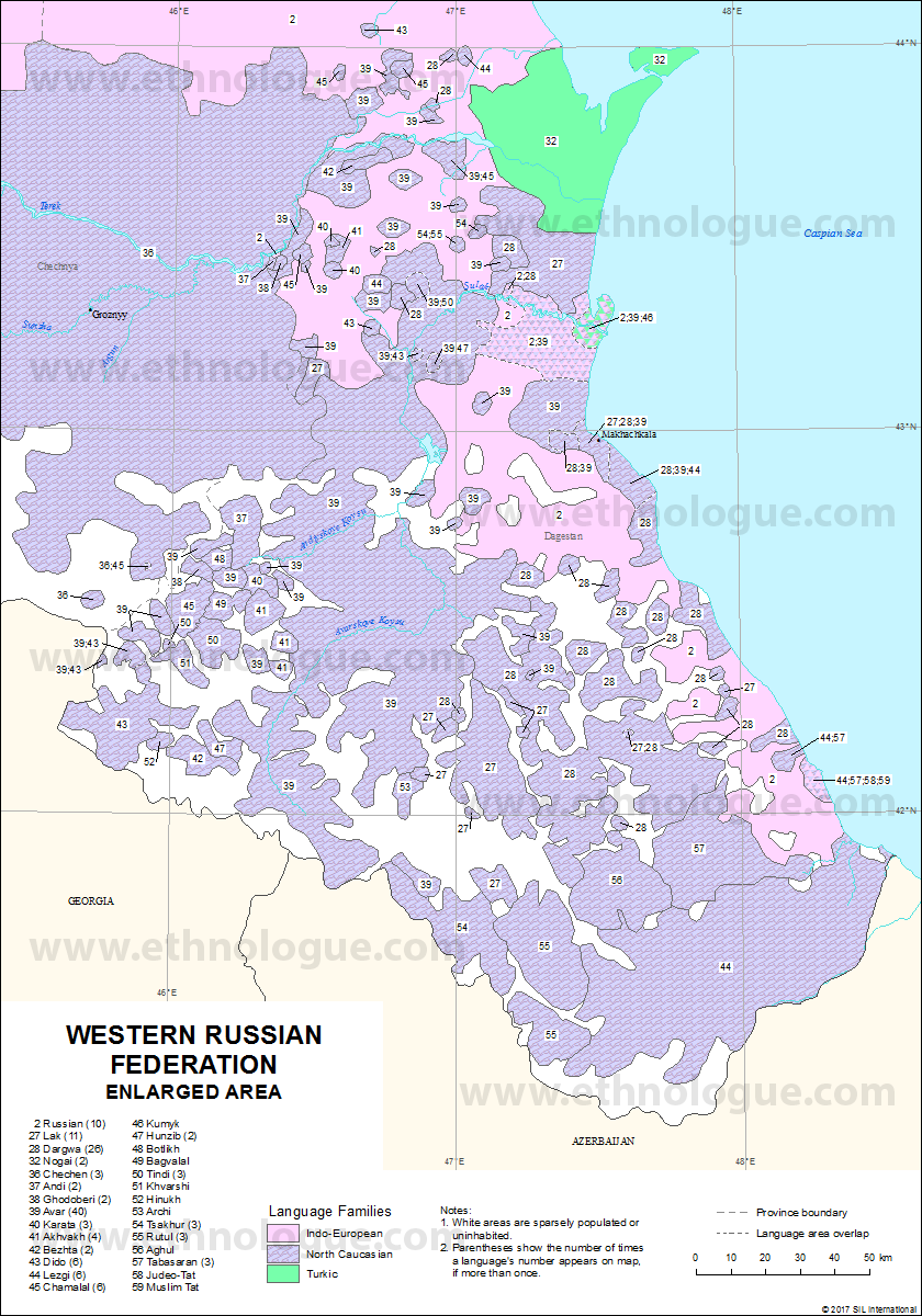 Western Russia Enlarged Area Ethnologue
