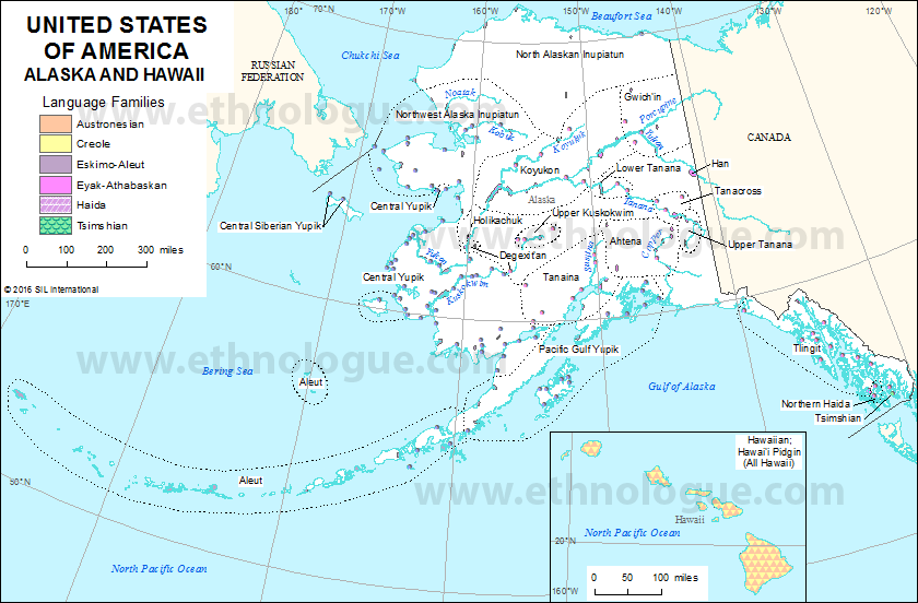 United States Of America Alaska And Hawaii Ethnologue: Map Of Hawaii In Us At Usa Maps