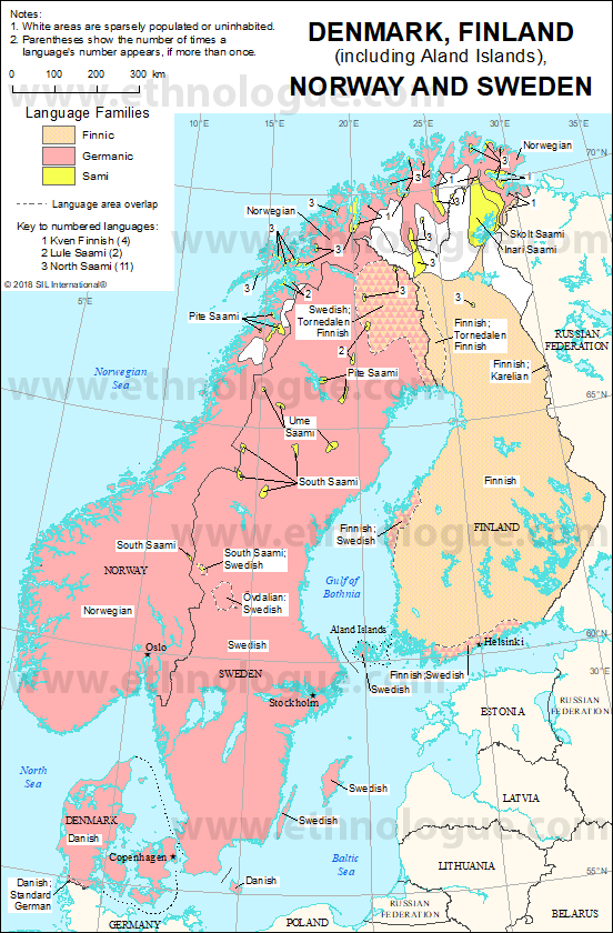 Denmark, Finland, Norway and Sweden | Ethnologue