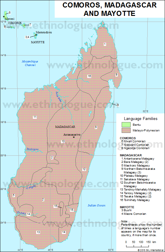 Comoros Madagascar and Mayotte Ethnologue