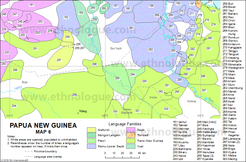 Papua new guinea map 6 ethnologue terms of use publicscrutiny Image collections