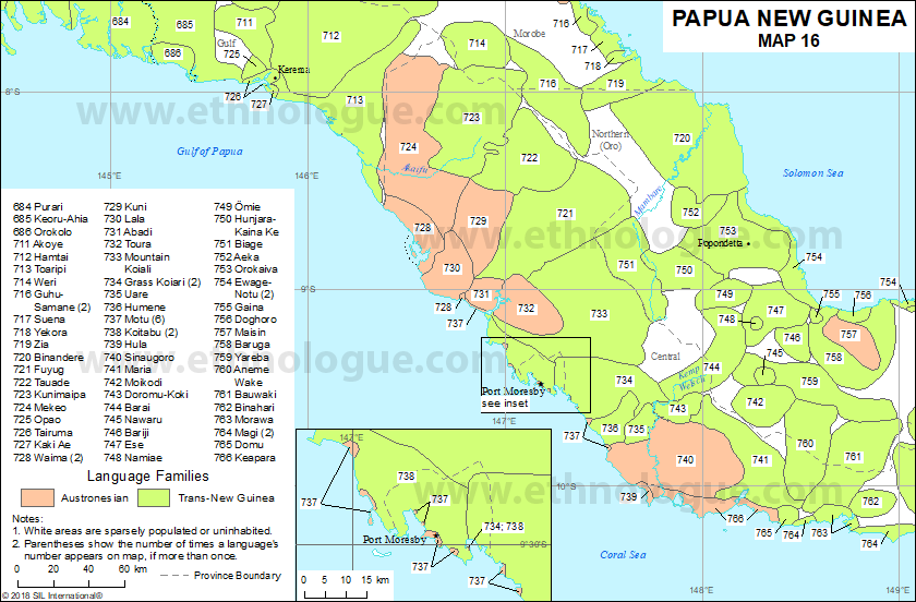 Papua New Guinea Map 16 Ethnologue