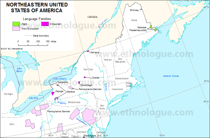 Northeastern United States of America | Ethnologue