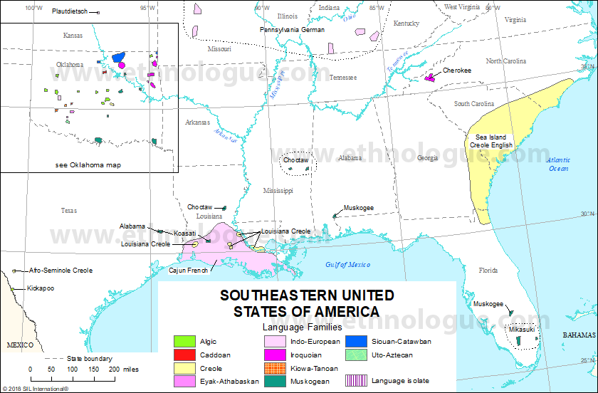 Southeastern United States of America | Ethnologue