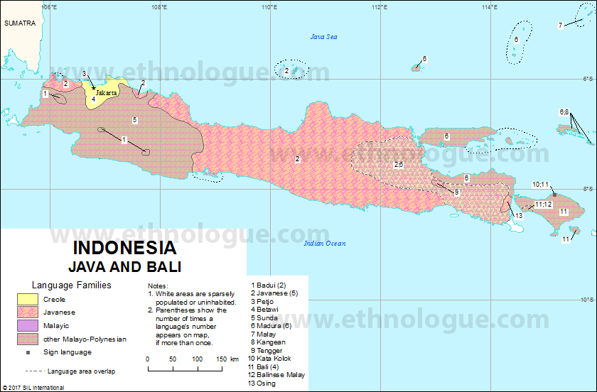 Indonesia Java And Bali Ethnologue