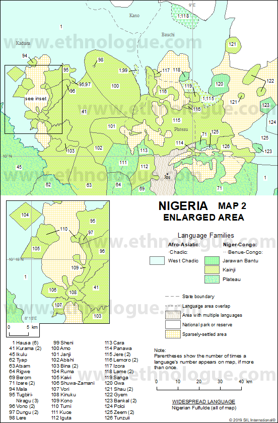 Nigeria, Map 2 Enlarged Area | Ethnologue