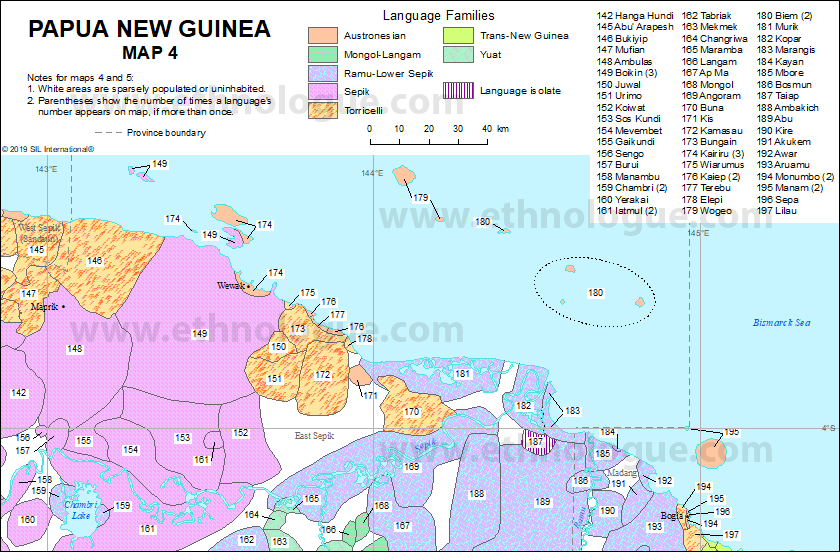 Papua New Guinea, Map 4 | Ethnologue