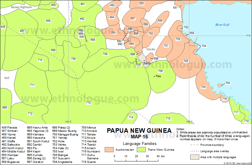 Papua New Guinea, Map 15 | Ethnologue