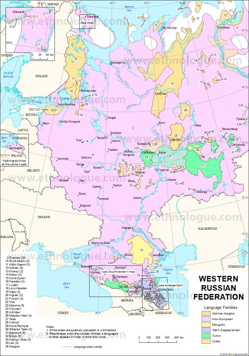 Western Russian Federation | Ethnologue